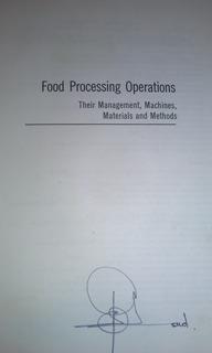 Food Prossesing Operations Vintage