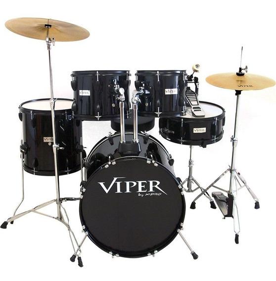 Bateria Acustica Instrumento Estudo Completa Viper Xpro