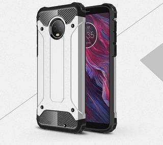 Funda Uso Rudo + Mica Cristal Templado Para Motorola