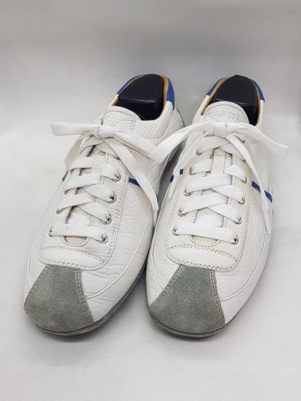 Tenis Prada De Piel Color Blancos Talla 42/8
