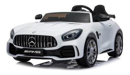 Auto Mercedes Benz Amg Gtr 2 Asientos Blanco Eléctrico Niño