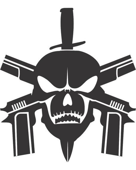 Adesivo Bope Tropa Elite Faca Caveira Policía Militar 10x8cm