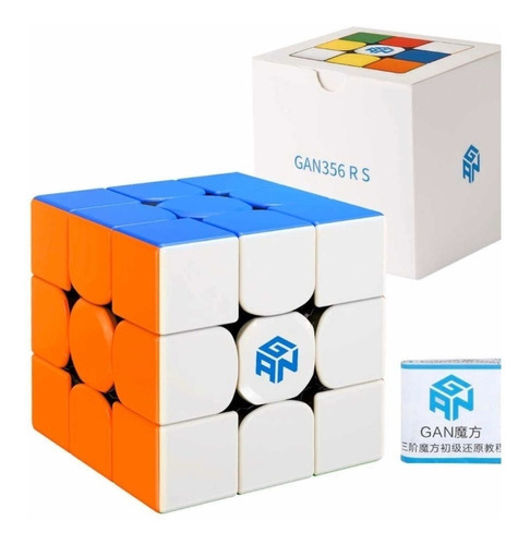 Imagem 1 de 6 de Cubo Mágico 3x3x3 Gans Gan 356 R S Colorido Profissional