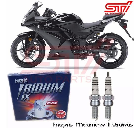 Jogo Vela Ngk Iridium Cr8eix Kawasaki Ninja 250 2009-2012