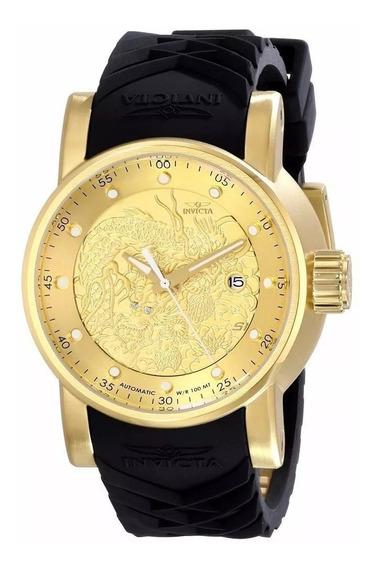 Relógio Masculino Dourado Grande Pesado Top 18 K