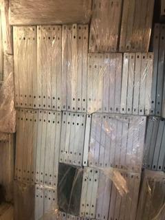 Estante Anaquel Metálico Usado Blanco Reforzado De Almacén