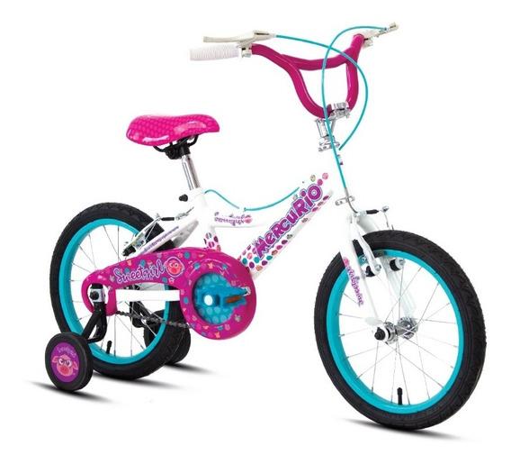Bicicleta Mercurio Sweetgirl Rodada 16, Para Niña