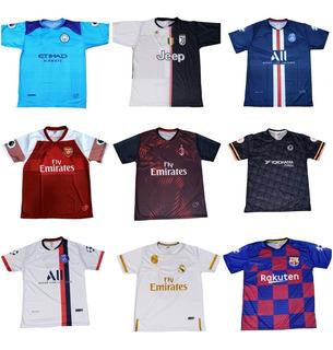 Kit Camisa Times Europeus-brasileiros Adulto 10 Peças