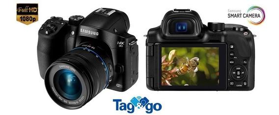 Câmera Digital Prof. Samsung Smart Nx30 20,3mp Ótimo Estado