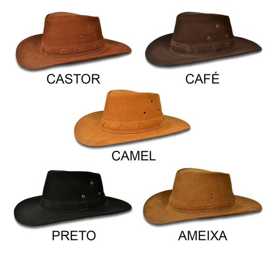 Chapéu Cavalgada Em Couro Legítimo Original