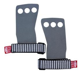 Grip 3 Furos Crossfit Luva Dedos Protetor Cinza P