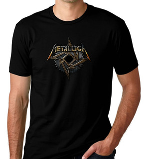 Camiseta Camisa Preta Banda De Rock Metallica Metalica 05