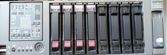 Servidor Hp Proliant Dl380 G5 Xeon E5150 10gb 4 Hds 72gb Sas