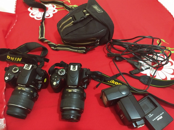 2 Máquinas: Nikon D60 E Nikon D5100 Por R$ 1.800