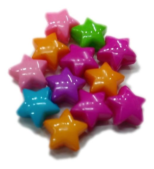 Estrellas De Colores Para Armar Pulseras 100 Pz Surtido