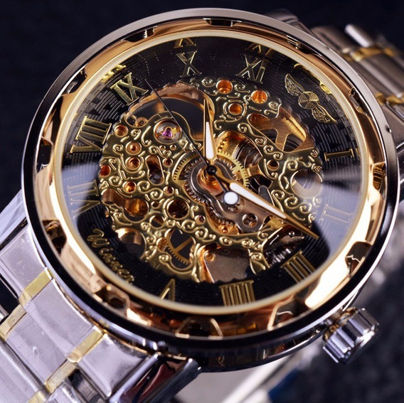 Relógio Winner Importado Original Mecânico Aço Inox Oferta