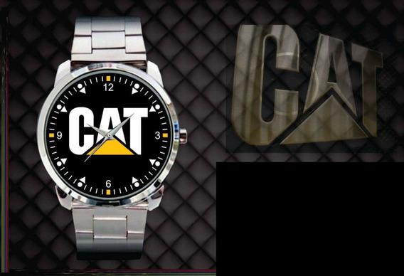 Relógio De Pulso Personalizado Logo Cat Maquinas Agricolas