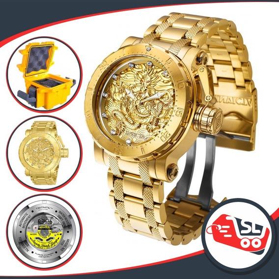 Relógio Invicta Coalition Force Dragon B. Ouro 18k 26511