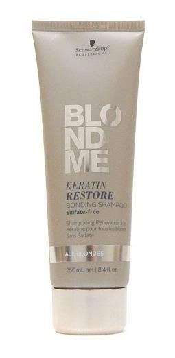 Schwarzkopf Blondme Shampoo Queratina Fortalece Rubios 250ml