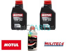 2 Litros De Óleo De Motor Motul 5w-30 + 1 Militec-1 Original