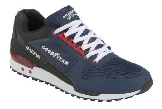 Tenis Goodyear Racing Sneakers Azul Marino 21749 Mini Cuñas