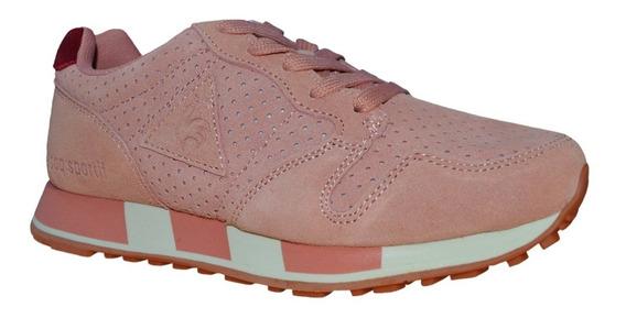 Zapatillas Le Coq Sportif Omega Premium Cuero Mujer Urbanas