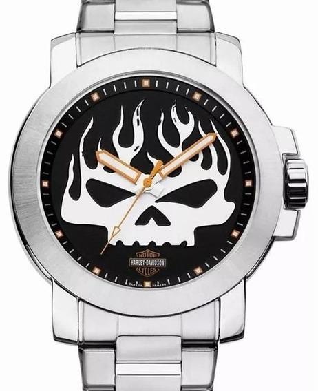 Relógio Bulova Masculino Harley Davidson - Wh30135t + Nfe