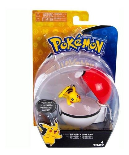 Pokemon - Clip Carry Pikachu + Pokebola - Tomy