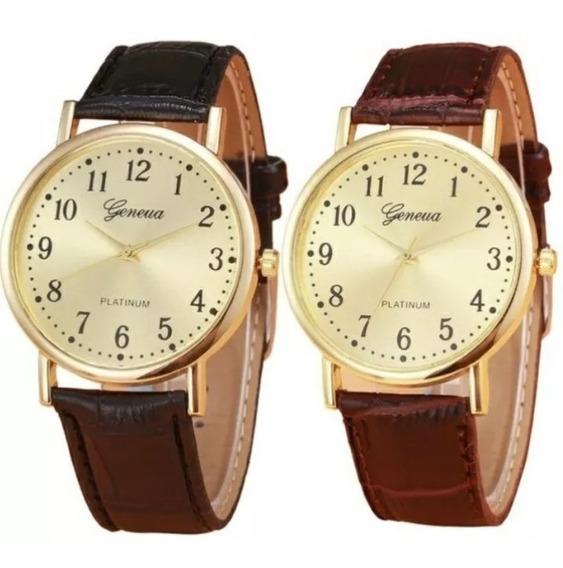 Relógio Platinun Pulseira Couro