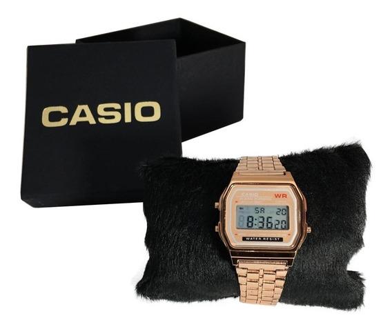 Relógio Digital De Pulso Casio Rose, Dourado, Prata + Caixa