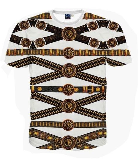 Camiseta Versace Estampa Corrente Tam M Original