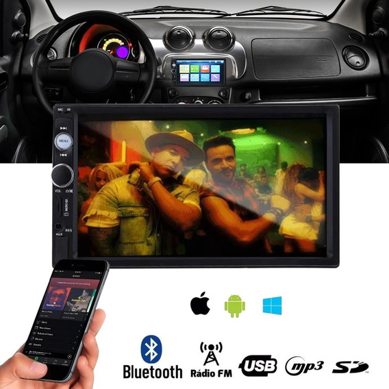 Radio Som Carro Multilaser Mp5 Usb Aux Player Automotivo