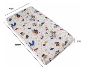 Colchão Baby Berço 70x100x10 - Chiquerinhos / Desmontável