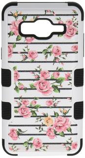Asmyna Teléfono Celular Para Samsung On5rosa Rosas Fresc
