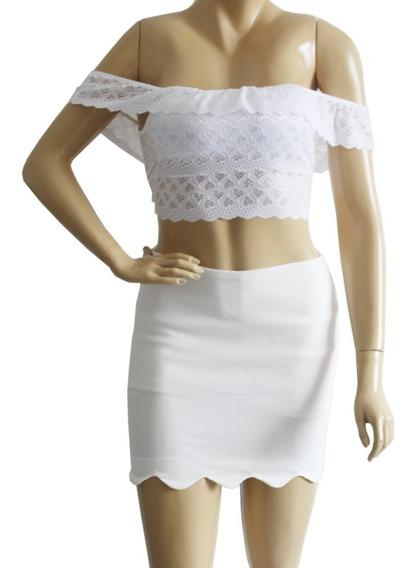 Blusa Ciganinha Renda Cropped Curto Com Bojo Moda Blogueiras