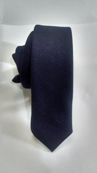 Kit 100 Gravatas Azul Marinho Fosco Slim