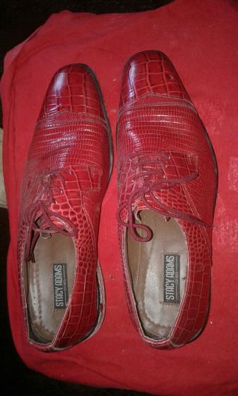 Zapatos Stacy Adams Piel De Cocodrilo
