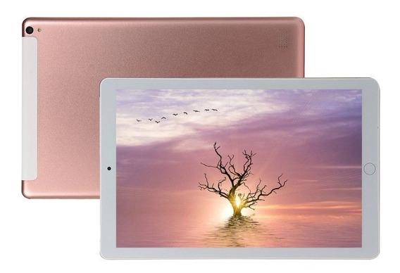 Tablet Rosa 10.1 Wifi Fone Gps Android 9 Mem 6gb+64 Gb
