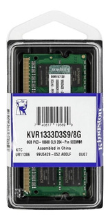 Memoria RAM 8 GB 1x8GB Kingston KVR1333D3S9/8G