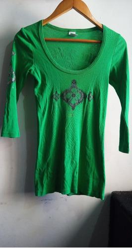 Camiseta De Algodón Importada Usa Mujer