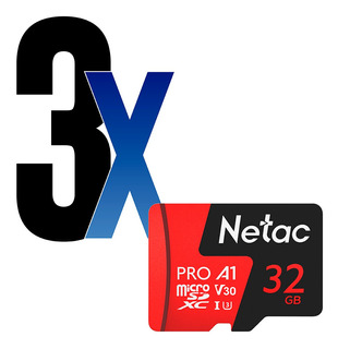 Cartão Memória Microsd 32gb Extreme Pro Netac 3un