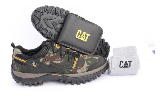 Sapato Cano Baixo Caterpillar Cat Cinto Carteira