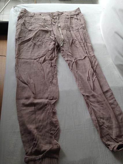 Pantalon Mujer Beige