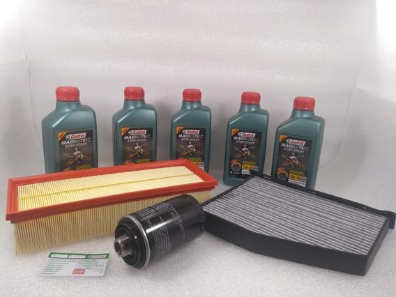 Troca Oleo Castrol 5w40 50200 Stop Start Audi Q3 2.0 Tfsi 170cv 2011/2015 + Filtros Originais Audi