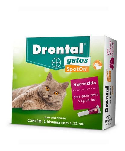 Drontal Spoton Vermífugo Para Gatos De 5kg A 8kg