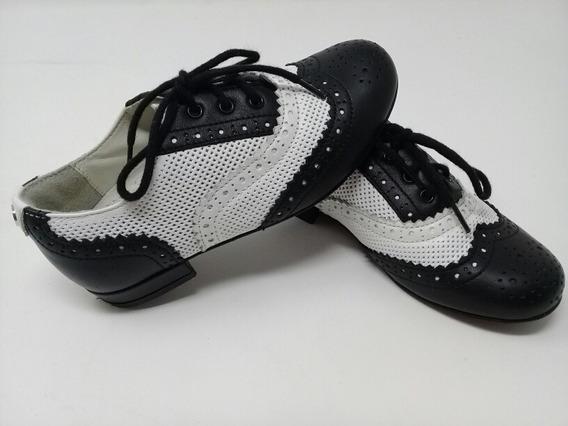 Zapato Piel Gucci Blanco Y Negro Niño. La Segunda Bazar