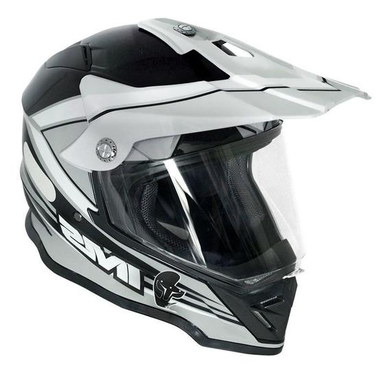 Capacete Trilha Ims Light Cinza Preto Com Viseira Motocross