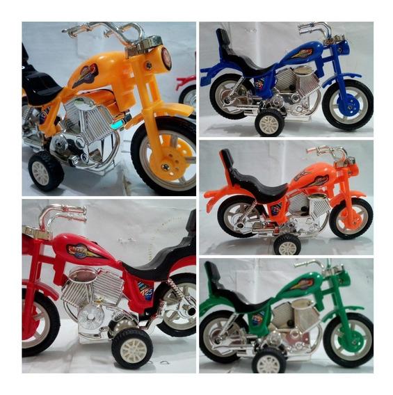 Tres Moto Fricción Tipo Harley Davidson Máxima Niño Juguete