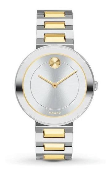 Reloj Movado Bold Cuarzo De Acero Inoxidable/dorado Dama