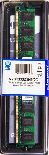Memória Kingston Ddr3 2gb 1333 Mhz Desktop Kit C/ 02 Unid